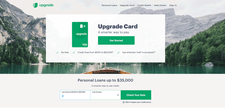 upgrade bad credit review