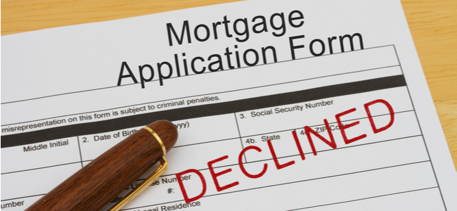 Declining A Mortgage Application